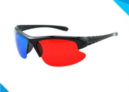 3d glasses plastic red and blue