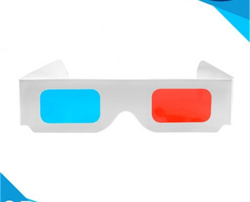 paper red cyan 3d glasses