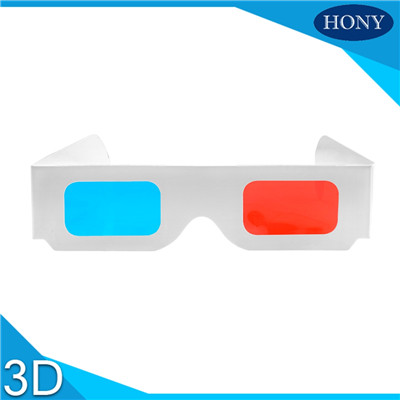 double layer cardboard red cyan 3d glasses