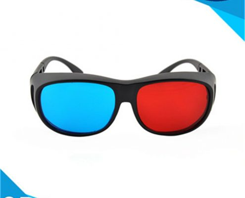 plastic 3d glasses red cyan