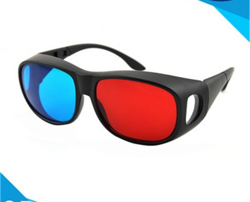 plastic red cyan glasses