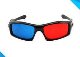 3D Red Cyan Plastic Glasses