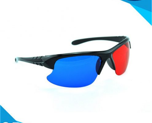 plastic 3d glasses red and blue