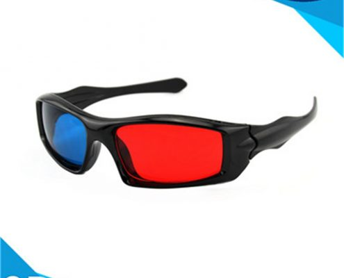 plastic anaglyph 3d glasses red cyan