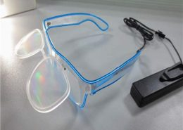 el wire flip up diffraction glasses