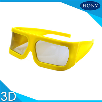 big yellow frame 3d glasses