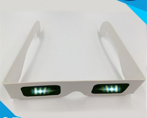 clear diffraction lens cardboard glasses