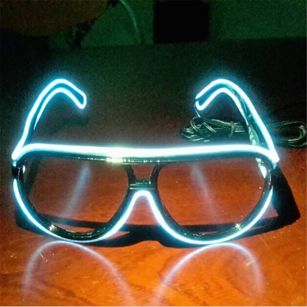 Novelty El Wire Diffraction Glasses Clear Lens For Party And Dance ...