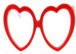 plastic fireworks glasses heart shape