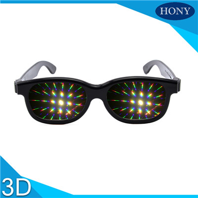 rainbow plastic frame glasses