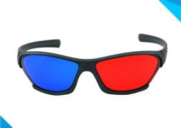 3d glasses red and blue