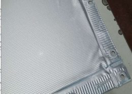 perforated silver 3d screen