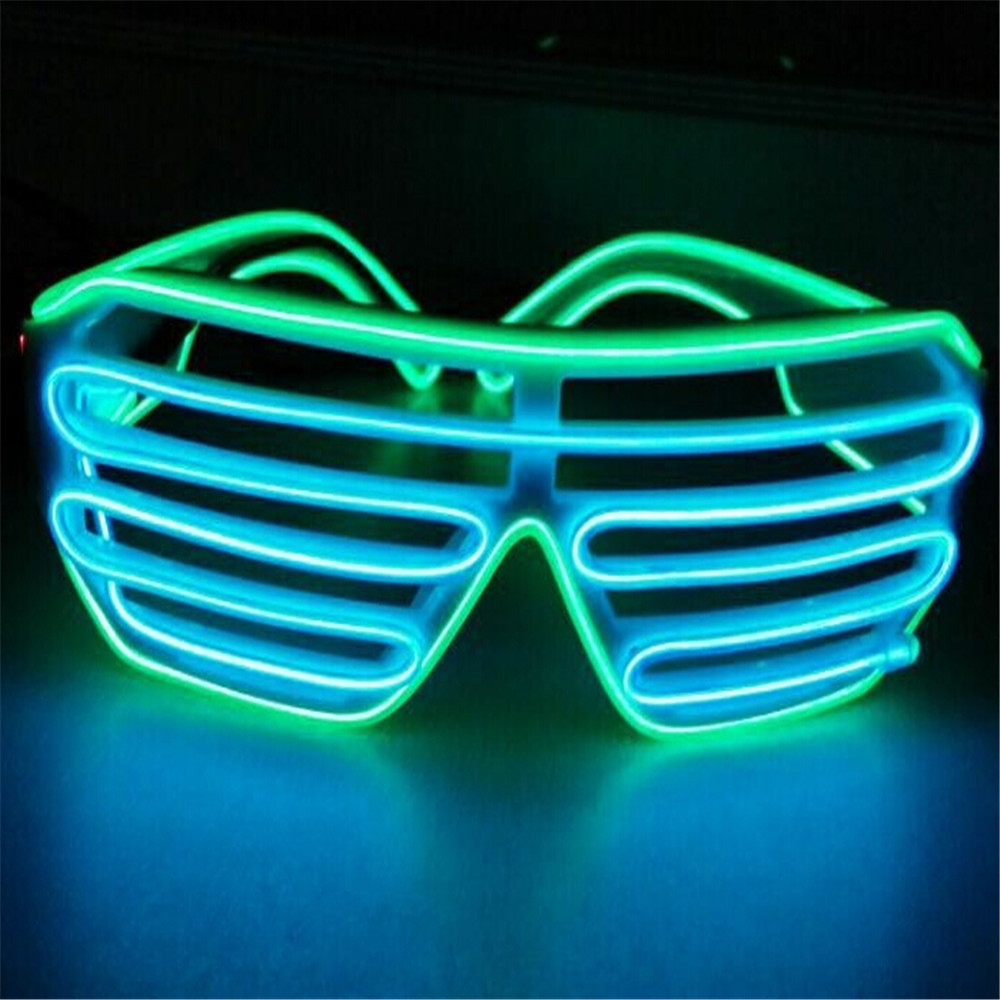 Plastic Shutter El Wire Glasses For Wedding Night Club Funny Use ...