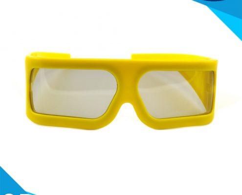 big frame linear polarized 3d glasses for 4d 5d cinema