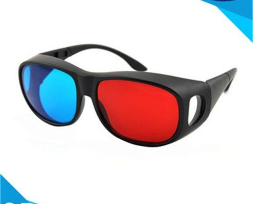 plastic red cyan glasses