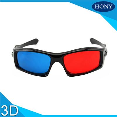 3D Red Cyan Plastic Glasses