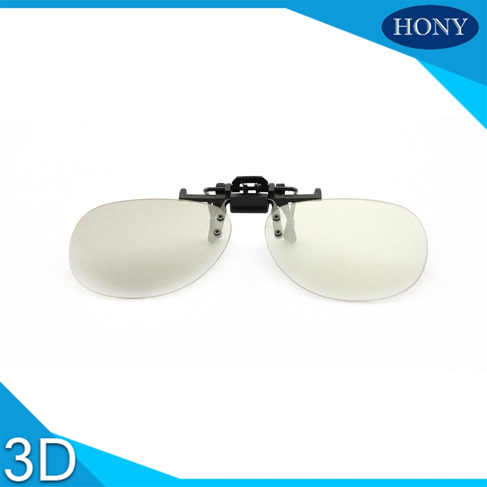 cinema use clip on 3d glasses