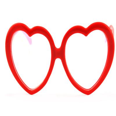 plastic fireworks glasses heart shape