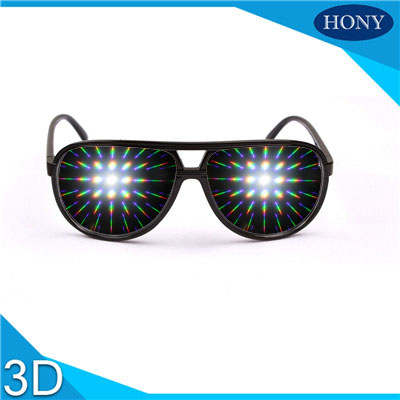 plastic clear diffraction glasses