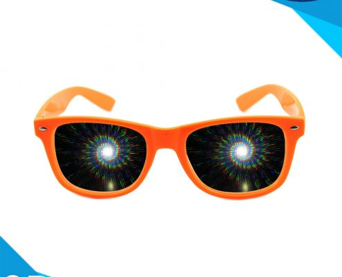 sprial diffraction glasses orange