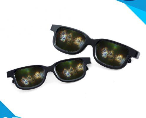 rainbow santa plastic glasses