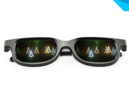 fantastic christmas tree rainbow glasses