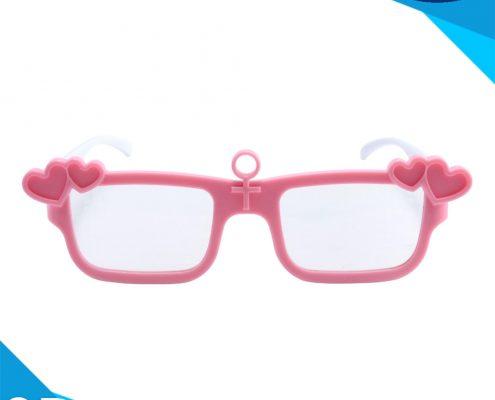 pink frame diffraction glasses